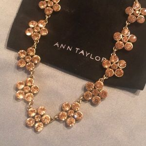Ann Taylor Pink Stone Statement Necklace